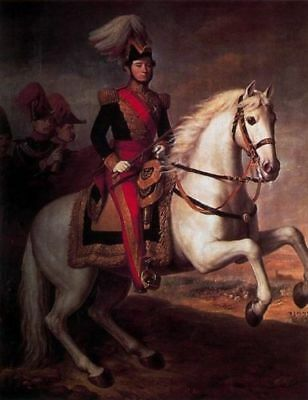 """art handmade oil painting:Young knight horseman on white horse 24x36"""""""