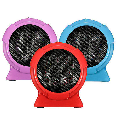 Portable Space Heater Electric Hot Room Office Desk Small Fan Heating US Plug