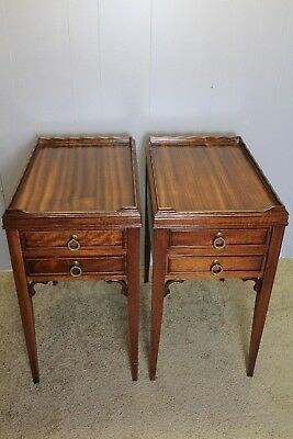Great English Regency style  Mahogany Nightstands , side tables two drawers