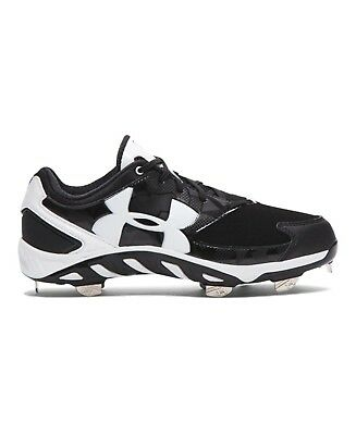 (9.5 B(M) US, Black/White) - Under Armour Women's UA Spine Glyde Softball Cleats