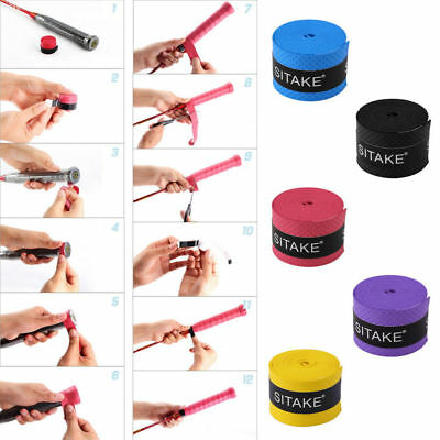 Anti-slip Absorb Sweat Racket HandleTape Grip Tennis Badminton Squash Band New