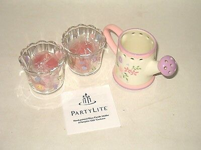 PartyLite 3 Piece Easter Gift Set P9283 - New in Box Watering Can and Votives