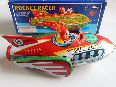 Rocket Racer Schylling Collector Series Friction Drive Tin Model Clacks Along