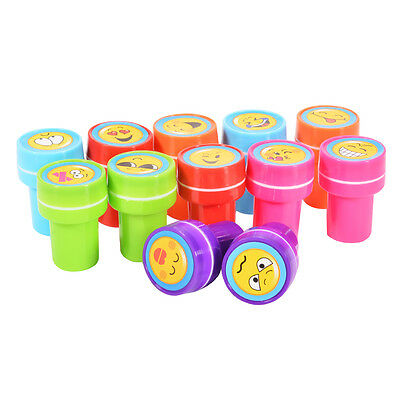 Emoji Smiley Silly Face Plastic Stamps Kids Learning Toys Stationery Lovely US