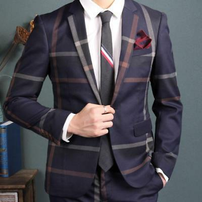 Mens Casual One Button Slim Fit Stylish Formal Suit Blazers Coat Jacket M-3XL
