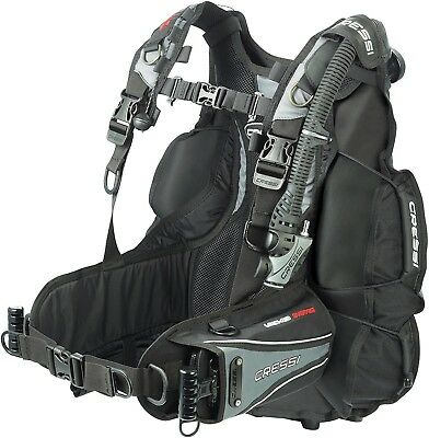 (Black/Grey, M/III) - Cressi Air Travel BCD,Buoyancy Compensator. Best Price