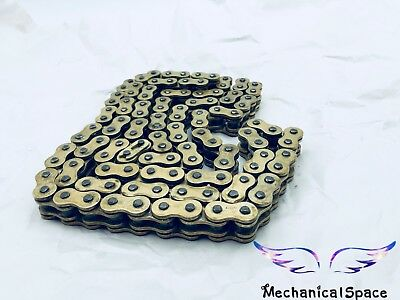 New Motorcycle Gold Heavy Duty O-Ring 520 Drive Chain 120 Links With Master Link