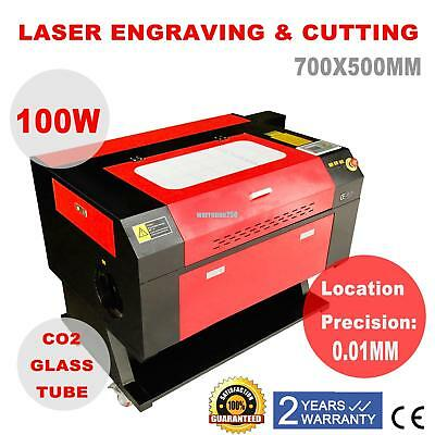 700x500mm Laser Engraving Machine 100w Co2 Engraver Cutter Engraver Wood Cutter