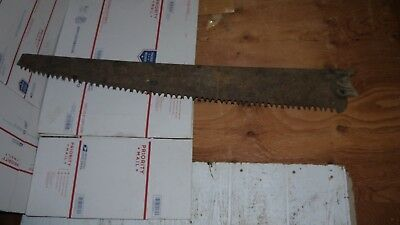 Antique / Vintage SAW RUSTY Cross Cut Saw long Tall LARGE Rust Patina METAL