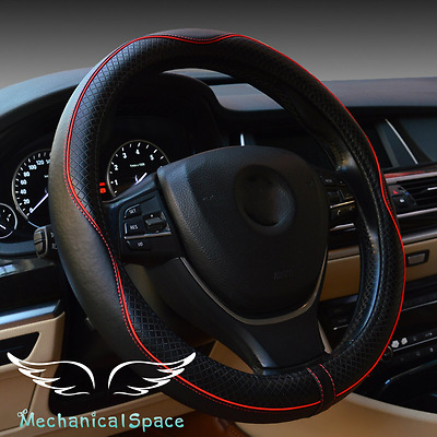 Universal 15 Inch Size Microfiber Leather Steering Wheel Cover for Car Truck SUV