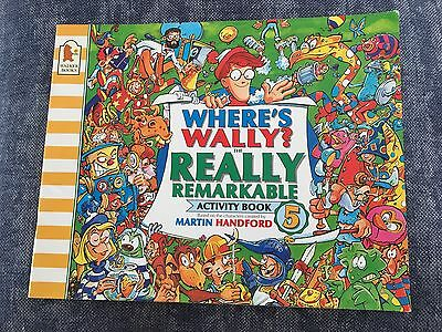 WHERE'S WALLY? The Really Remarkable Activity Book 5 - MARTIN HANDFORD - SC