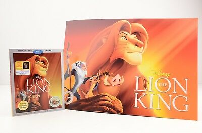 Disney Store Signature Collection The Lion King Blue-Ray DVD Digital Lithograph
