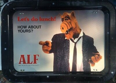 "Vintage 1987 Alf TV Tray Aluminum "" Lets do Lunch"""