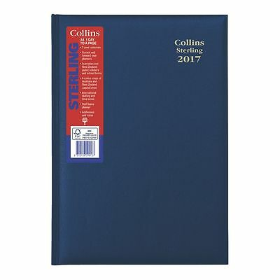 Collins Sterling 2017 Diary A4 1 Day to A Page 144.P59-17 Hard Cover NAVY BLUE