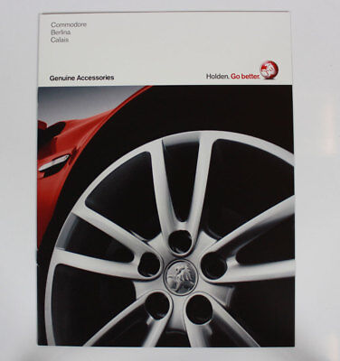 New Holden Commodore Berlina Calais VE Accessories Sales Brochure Specifications