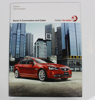 New Holden Commodore Calais VE Series II Sales Brochure Specification Sizzle Red