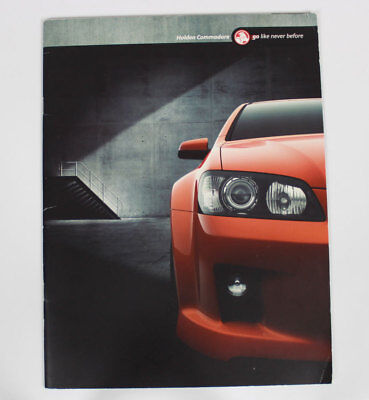 New Holden Commodore VE Series I Sales BrochureSpecifications Ignition Orange