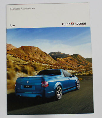 New Holden Commodore VE Series I Ute Accessories Sales Brochure Specifications