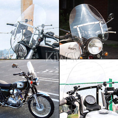 "KiWAV 16""x18"" clear windshield screen 1"" & 7/8"" handlebar for Yamaha V Star 950"