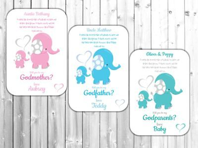 Personalised Will You Be My Godmother/Godfather/Godparents Poem Request Card