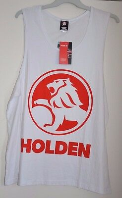 HOLDEN Singlet Mens Tank Top 3XL XXXL PLUS SIZE HSV White Red Stretch BNWT