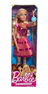 """Barbie 28"""" Doll Blonde Removable Outfit Shoes Necklace and Purse Accessory"""