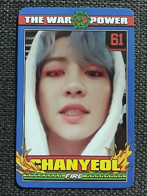 EXO CHANYEOL #2 Official PHOTOCARD THE WAR: THE POWER OF MUSIC 4th Album Repack