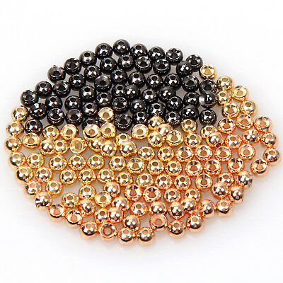 Fly Tying Beads 50pc/lot Tungsten Gold Copper Nickle Fly Fishing Beads