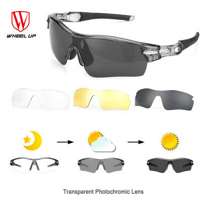 Polarized Cycling Sports Bicycle Bike Photochromic Sunglasses Eyewear Goggles AU