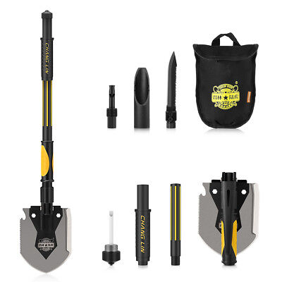 Folding Multifunctional Military Shovel Camping Survival Screwdriver Spade Tools