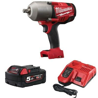 Milwaukee M18CHIWF12-501 High Torque Impact Wrench,18v Battery and Rapid Fast Ch