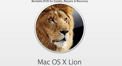 Mac OS X 10.7 Lion - Bootable DVD for Fresh Installs, Repair or Recovery