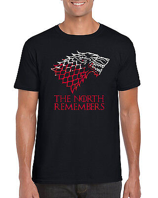 """""""The North Remembers"""" Game of Thrones Inspired T Shirt S to 2XL"""