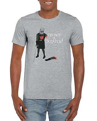 Tis But A Scratch Black Knight Monty Python Inspired Funny Novelty Men's T-Shirt