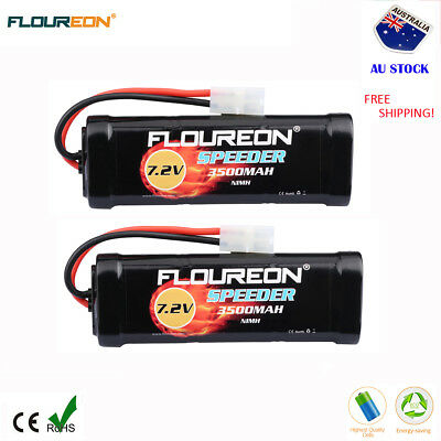 2x 7.2V 3500mAh NiMH Battery Female-tamiya Plug for RC Car Hornet Truck Traxxas