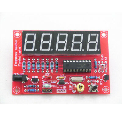 DIY Digital 1Hz-50MHz Crystal Oscillator Frequency Counter Meter Tester Kit Red
