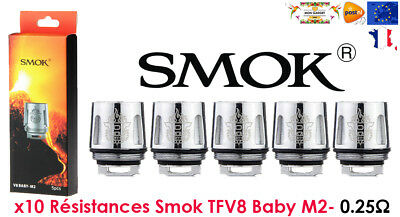 PACK DE 5 RESISTANCES SMOK TFV8 BABY , x baby beast brother coil M2