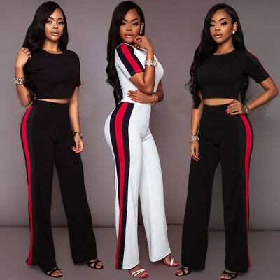 UK New Women High Waist Trousers Pants Ladies Casual Cropped Length OL Trousers