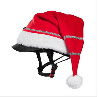 Horze Spirit Christmas Santa Claus Hat Horse Riding Helmet/Hat Cover
