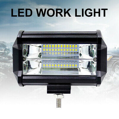 72W SPOT LED Off roads Work Light Lamp 12V 24V car boat Truck Driving UTE 6000K