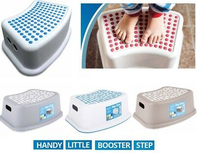 Booster Step Stool Non Anti Slip Toilet Potty Training Kids Children Bathroom