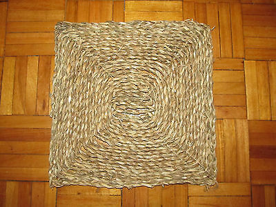 "SISAL/SEAGRASS MAT 12"" x 12"" SAMPLE MAT KITCHEN HALL PORCH CONSERVATORY"