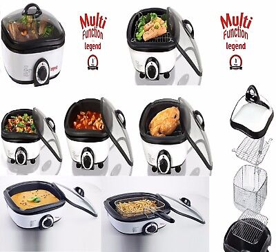 Multi Functional 8 in1 Cooker Slow Cook Steam Grill Roasting Frying Baking 1300W
