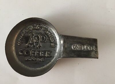 Vintage A&P Metal Coffee Measuring Spoon - Handle Broken