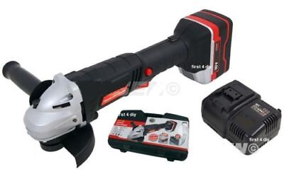 """Heavy Duty 18V Lithium Ion Cordless 4.5"""" 115Mm Lion Battery Angle Grinder New"""