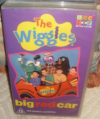 THE WIGGLES big red car VHS video tape rare find