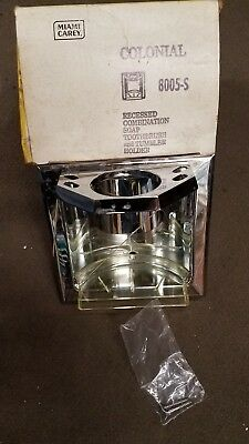Vintage Miami Carey Chrome Soap Toothbrush and Tumbler Holder 8005-S NOS