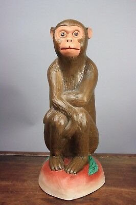 20th C. Marked Chinese Famille-rose Figure Of Monkey
