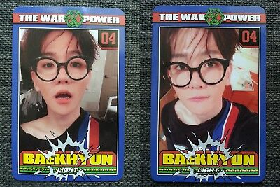 LOT of 2 EXO BAEKHYUN Official PHOTOCARD THE WAR: THE POWER OF MUSIC 4th Repack