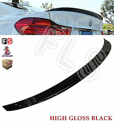 Bmw 4 Series Gloss Black 2D 14 F32 M Performance Style Rear Boot Spoiler 100%fit